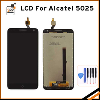 Original Black Full LCD Display Touch Screen Digitizer Assembly For Alcatel One Touch Pop 3 5