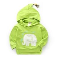 2018 spring 100% cotton t shirt cute cartoon elephant designer boys sweatshirt outwear kids clothes boys tops tees hoodies