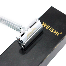 WEISHI Safety Razor Butterfly Double-edged Shaving Razor Silvery Gun color Bronze 11.5CM Long Handle High Quality 8PCS/LOT NEW