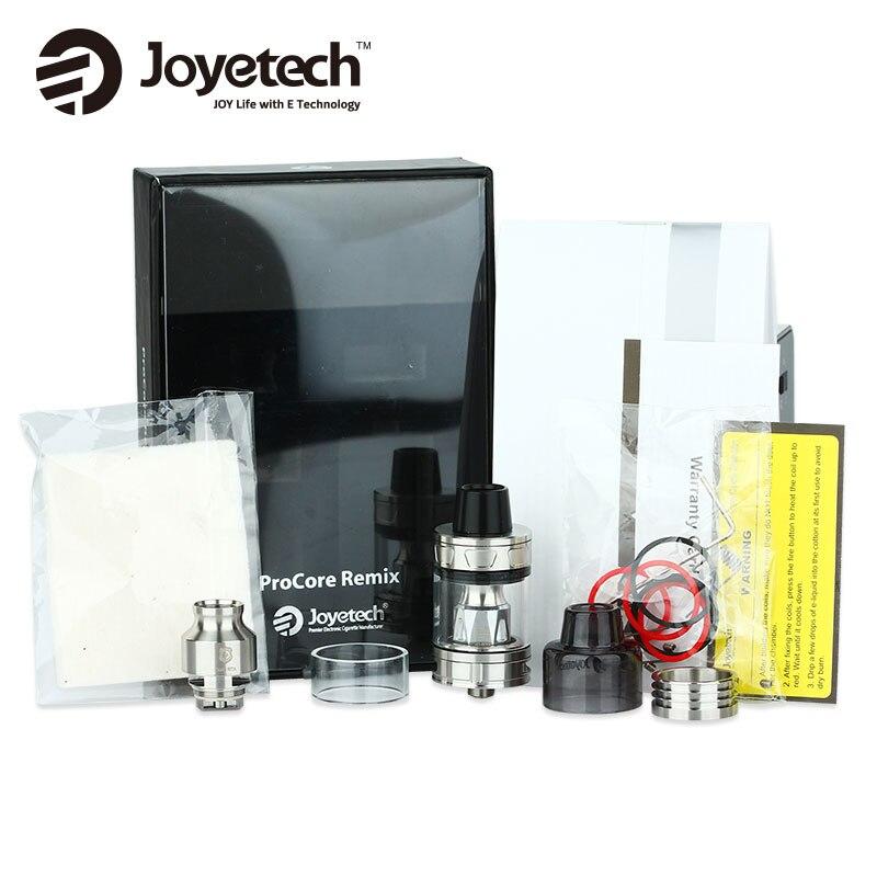 Аутентичные Joyetech удаленно Remix RTA/RDA/subohm бак распылитель с 0.4ohm proc1 катушки голову 2 мл/4.5 мл Ёмкость электронные сигареты VAPE