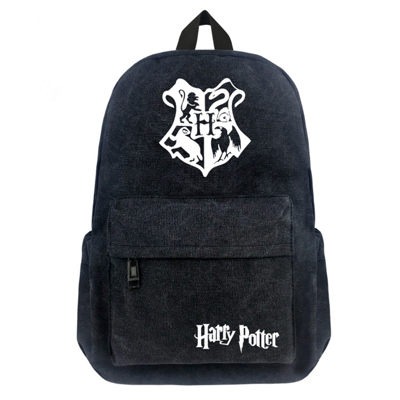 16 Inch Canvas Backpack Harry Potter / One Piece / Totoro / Death Note Cartoon School Young Student Boy Girl