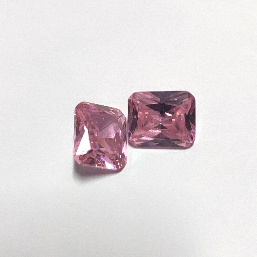 10 Stücke 10 Karat Luxus 10x12mm Rosa Quarz Hoher Qualität Lose Edelsteine Diy Erstellt Steine Edlen Schmuck Machen Großhandel Geschenke Produkte HeißEr Verkauf