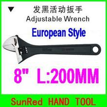 "BESTIR high quality wholesale european style 8"" blackening monkey adjustable wrench hand tool ,NO.55308 freeshipping(China)"