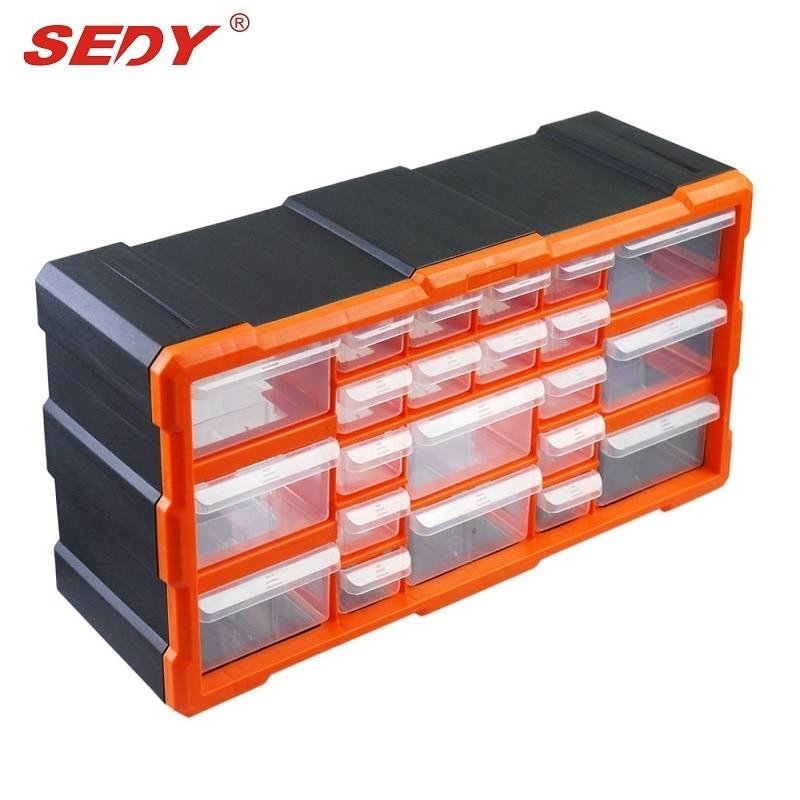 22 Drawers Storage Cabinet Tool Box Chest Case Plastic Organiser Toolbox Bin new wall mounted storage bin rack tool parts garage unit shelving organiser box