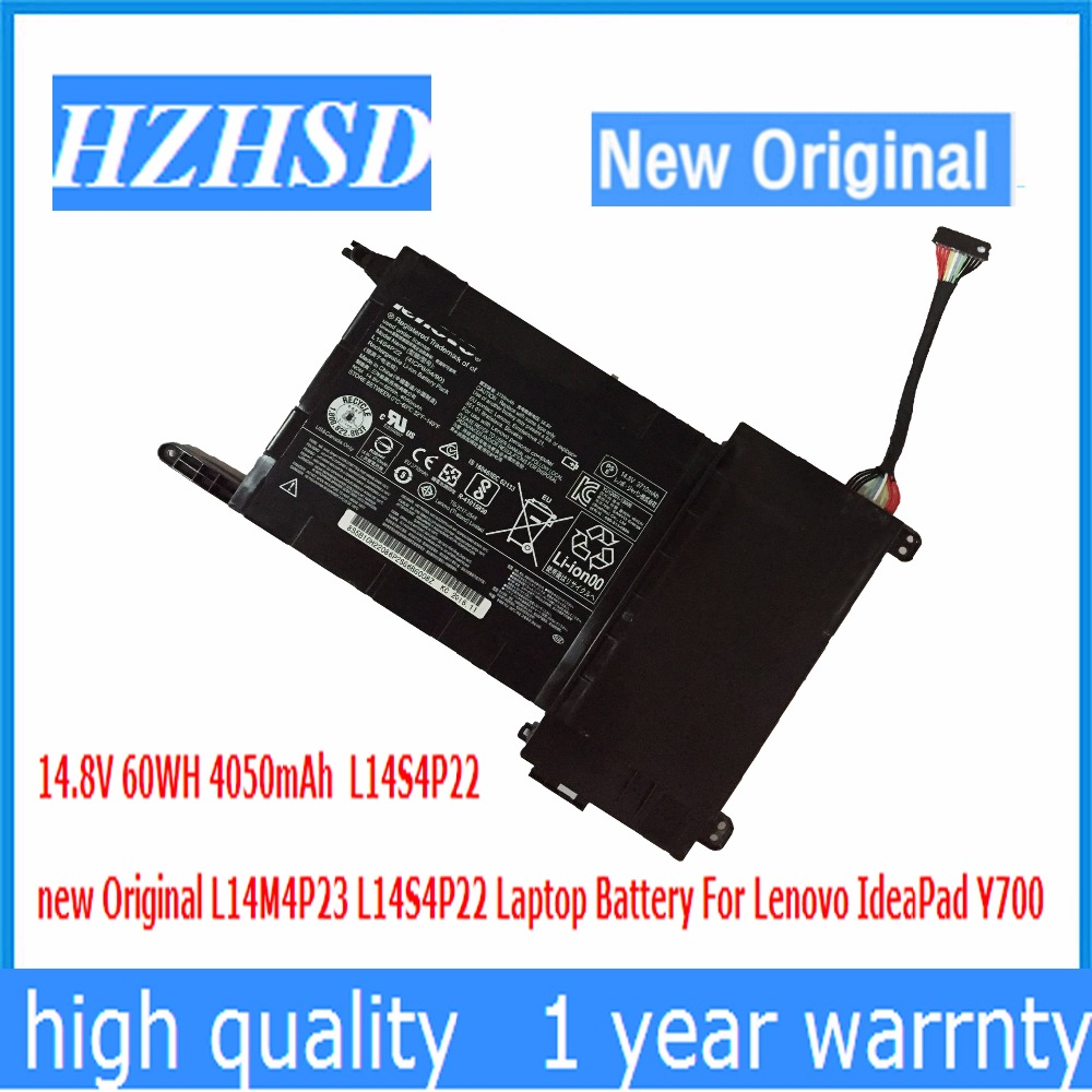 14.8V 60WH 4050mAh new Original L14M4P23 L14S4P22 Laptop Battery For Lenovo IdeaPad Y700