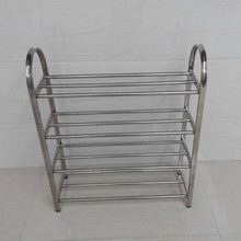 Specials thick stainless steel shoe rack storage four curved multilayer simple arc