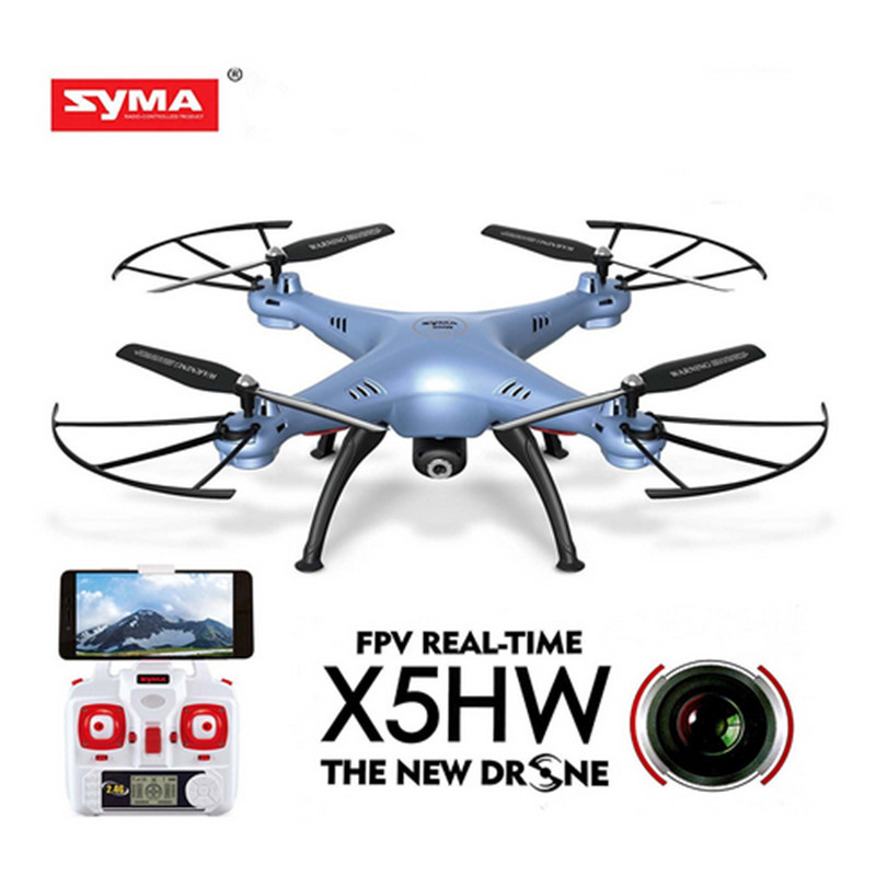 SYMA X5HW Mini Drone with Camera HD Wifi FPV RC Helicopter Elfie Remote Control Quadcopter 2.4GHz 4CH 30W Dron Aircraft Toy yc folding mini rc drone fpv wifi 500w hd camera remote control kids toys quadcopter helicopter aircraft toy kid air plane gift