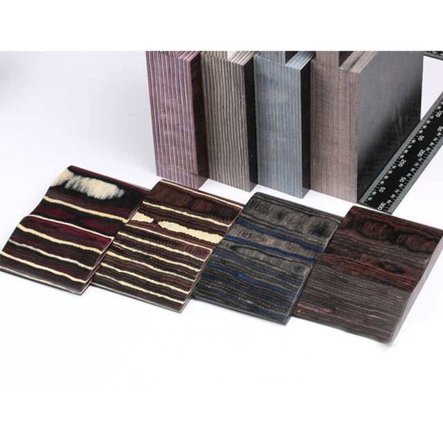 Various Sizes Color Laminated Wood Diy Knife Handles Making Material Blanks For Handicrafts Materials 1piece
