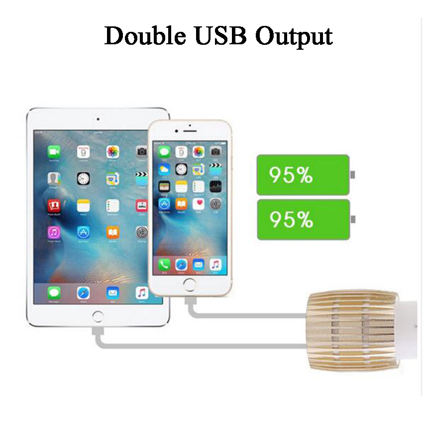 Car Charger Blue Light Alloy Cell Mobile Phone Charger 5V 1A 2.1A Dual USB Quick Charge Adapter For iPhone ios Android Phone (14)