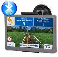 Car GPS navigator 7 inch HD FM Bluetooth voice trafflc alarm truck navigation 128M+8G memory latest Europe map