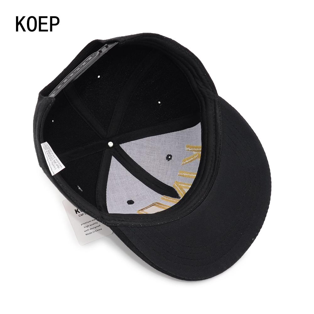 black snapback hat KOEP®-HHC-17-GK-7