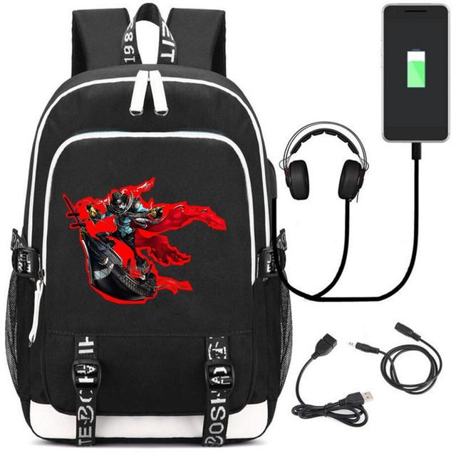 Аниме рюкзак Persona 5 USB зарядка и кабель бесплатно 5