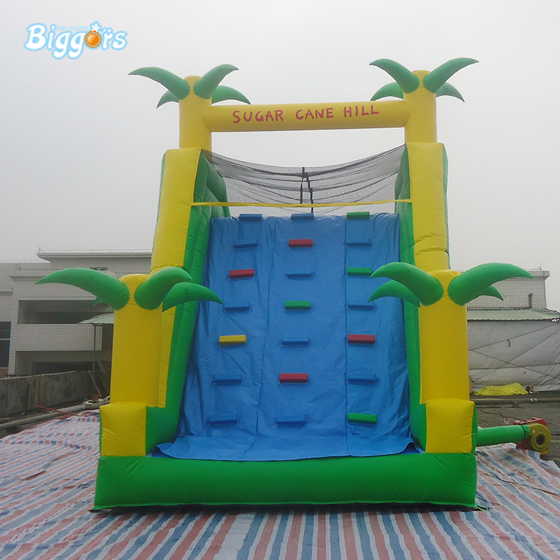 Backyard Jungle Tropical Inflatable Bouncy Climbing Water Slide Inflatable Slide With Pool backyard slides park inflatable water slide with pool for kids