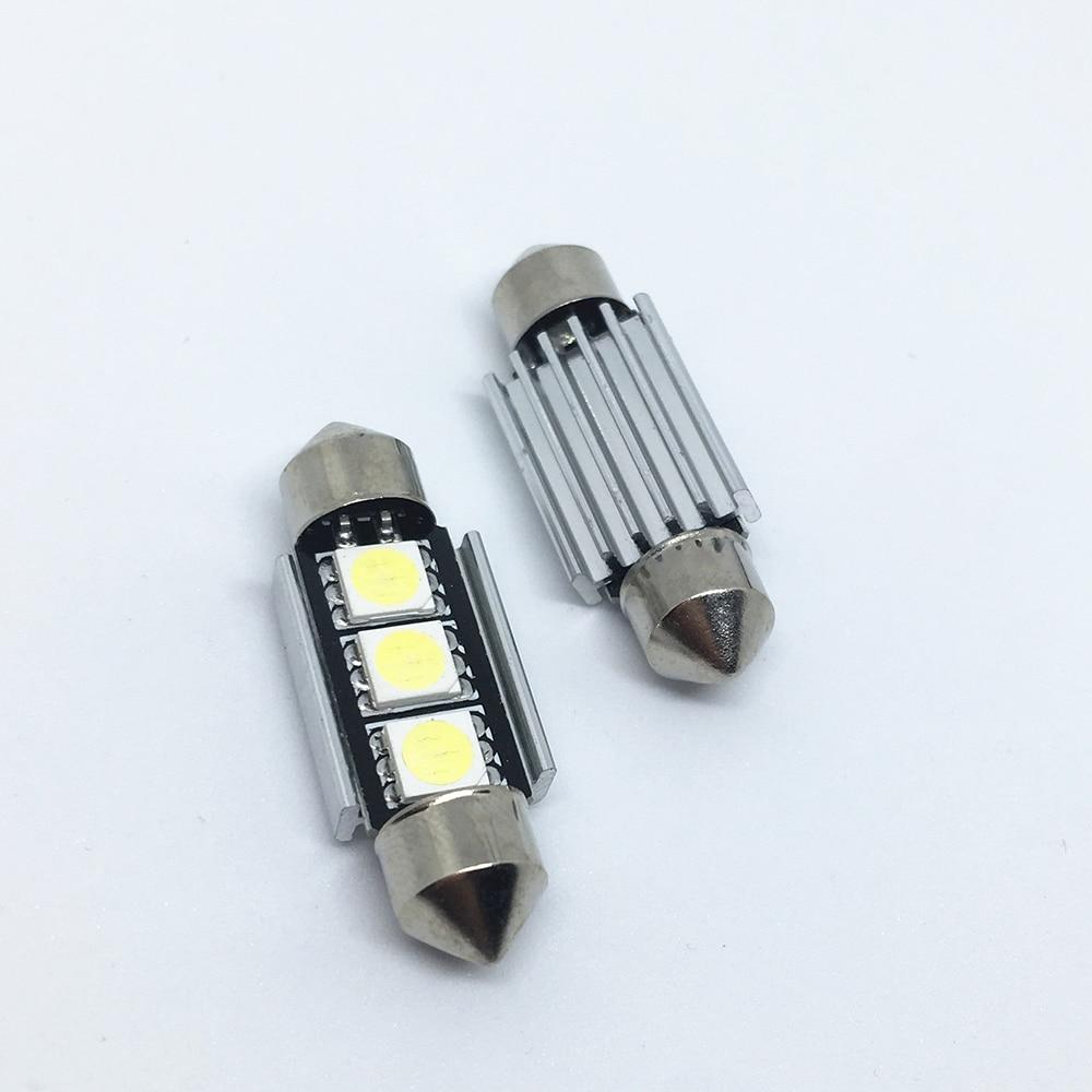HTB1y40jvOCYBuNkHFCcq6AHtVXaH 10pcs 36mm 39mm 41mm SMD 5050 LED White Blue Dome Festoon Car Light CANBUS Error Free C5W LED Lamp auto Bulb interior light 12V
