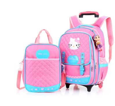 School Rolling Backpack Wheeled Backpack for girl Kids School trolley Bag School Backpack bag wheels Children Travel Luggage bag unique superman custom kids school backpack bag small the portable