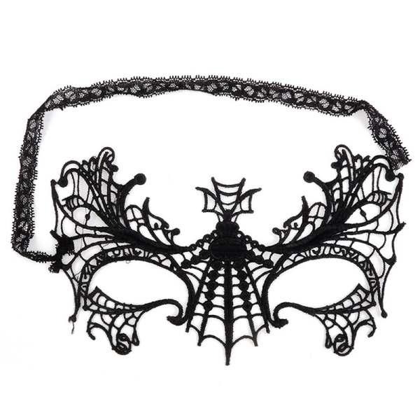 Máscara de la mascarada para Ojos Encaje máscara patrón de araña ...