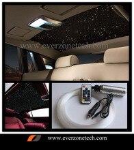12 فولت LED ألياف السيارات البصريات ضوء السماء المرصعة بالنجوم 200 قطعة 0.75 مللي متر (100 قطعة 50 سنتيمتر ، 50 قطعة 100 سنتيمتر ، 50 قطعة 150 سنتيمتر) مع وحدة تحكم عن بعد RGB