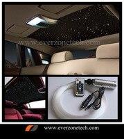 12 v led 자동차 섬유 광학 별이 빛나는 하늘 빛 200 pcs 0.75mm (100 pcs-50 cm  50 pcs-100 cm  50 pcs-150 cm) rgb 원격 컨트롤러