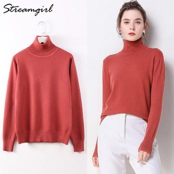 d42e3c10b57 Suéter de cuello alto mujeres suéteres mujer Jersey de punto suéter blanco  Jersey de punto Mujer