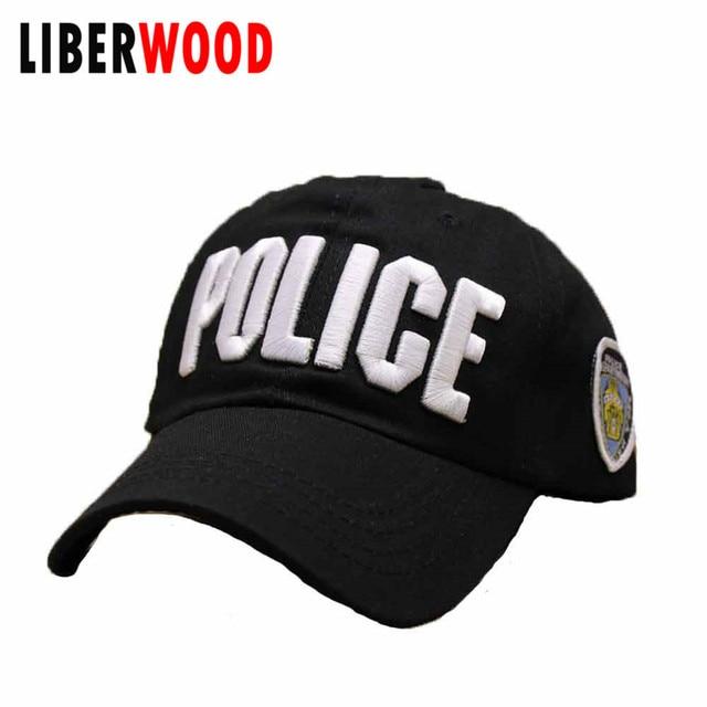 Poliziotto Forze dell ordine Cop Baseball Ball Cap Ricamo US NYC Cappello  di Polizia Cotone c1ecb2900eb6