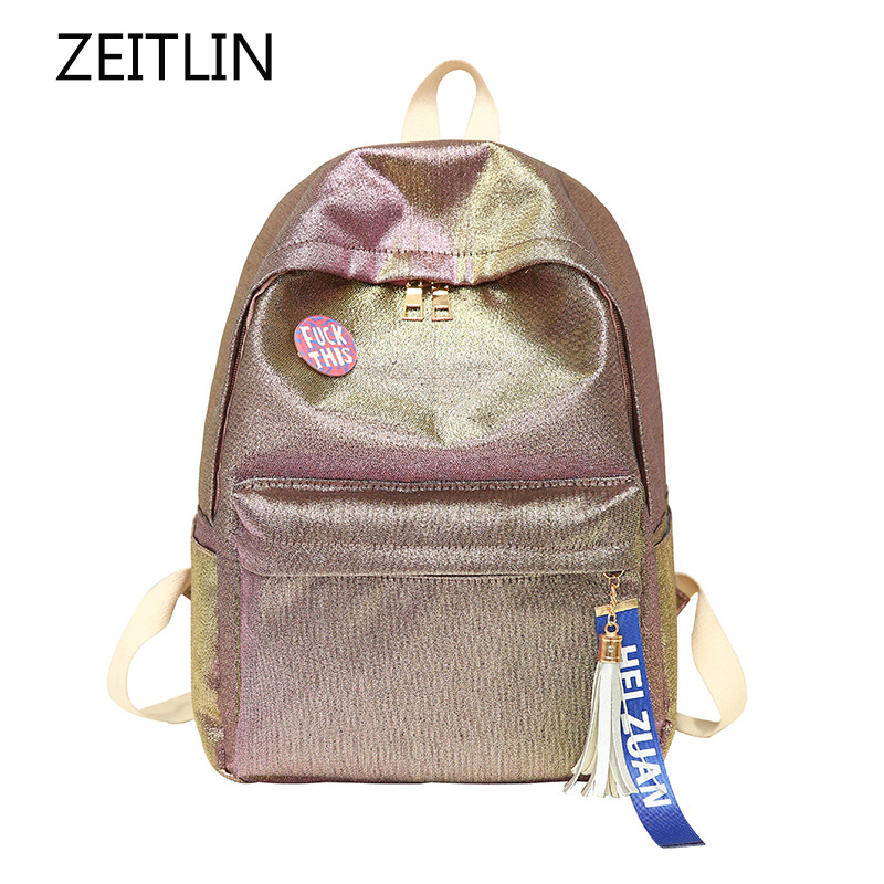 Oxford Large Capacity Backpack Women Double Straps Schoolbag For Teenage New Gradient Backpack Notebook Mochila Feminina S646