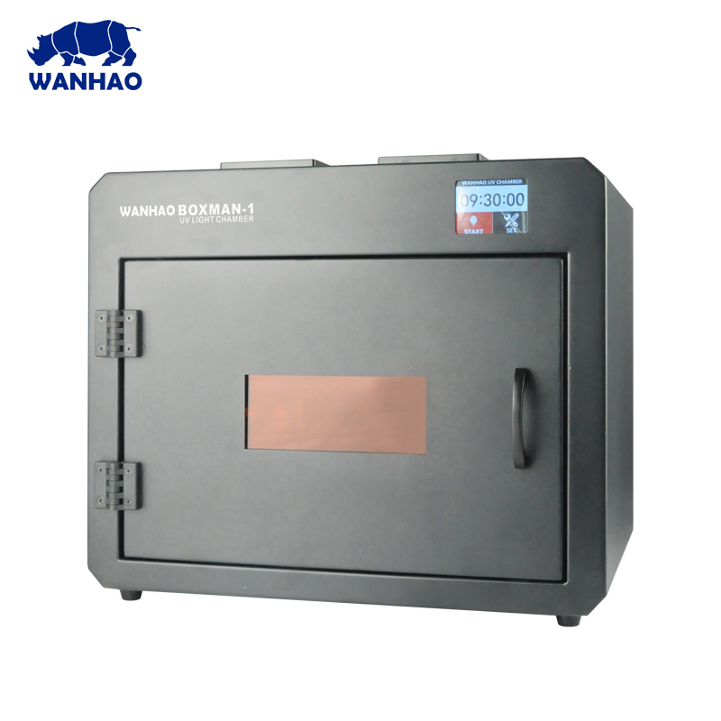 2018 WANHAO  NEWEST Efficient  UV CURING Box for your DIY 3D printer model with Touch LCD screen