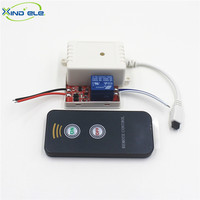XIND ELE 1 way 12V DC IR Remote Control Self-lock Switch With Wire + 2 Key Remote For Light And Garage Door #IR12-1SW+PM2#