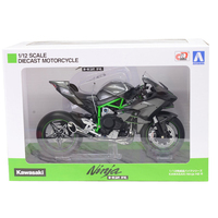 OHS Aoshima 104576 1/12 Ninja H2R Race Ver. Scale Finished Diecast Motorcycle Model