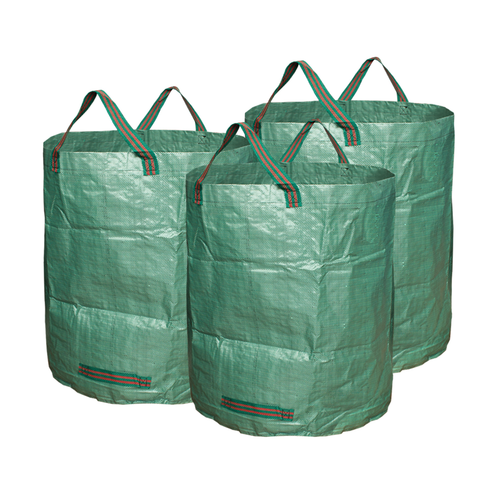 Us 24 43 6 Off 3 Pieces Garden Bags 72 Gallons Collapsible Reusable Gardening Containers Large Yard Waste For Lawn Leaf In Climbing
