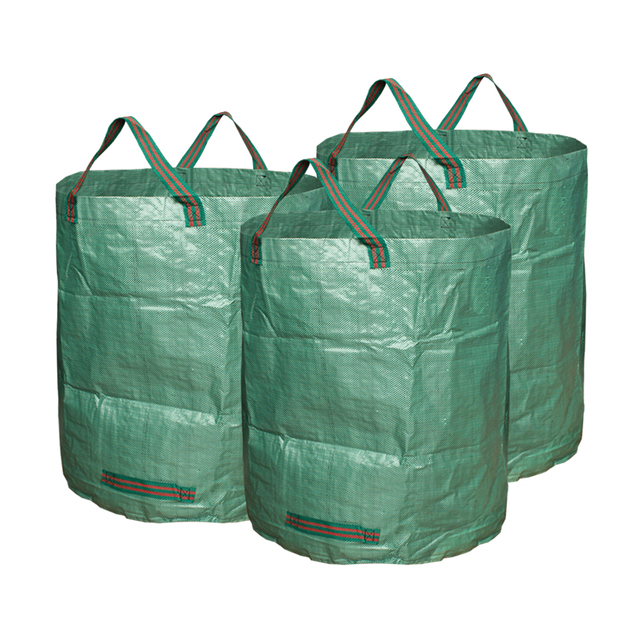 3 Pieces Garden Bags 72 Gallons Collapsible Reusable Gardening Containers Large Yard Waste For