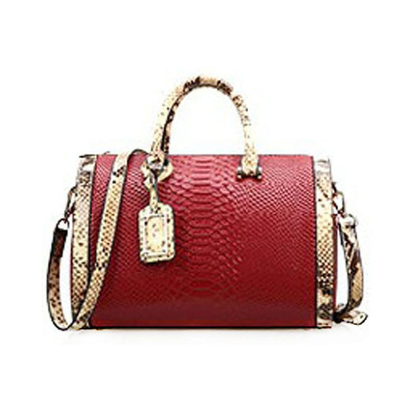 2018 new crocodile pattern female large bag the first layer of leather luxury women's rectangular shoulder bag diagonal package fashion litchi pattern the first layer of leather commute commuter shell bag lock shoulder diagonal wild female bag