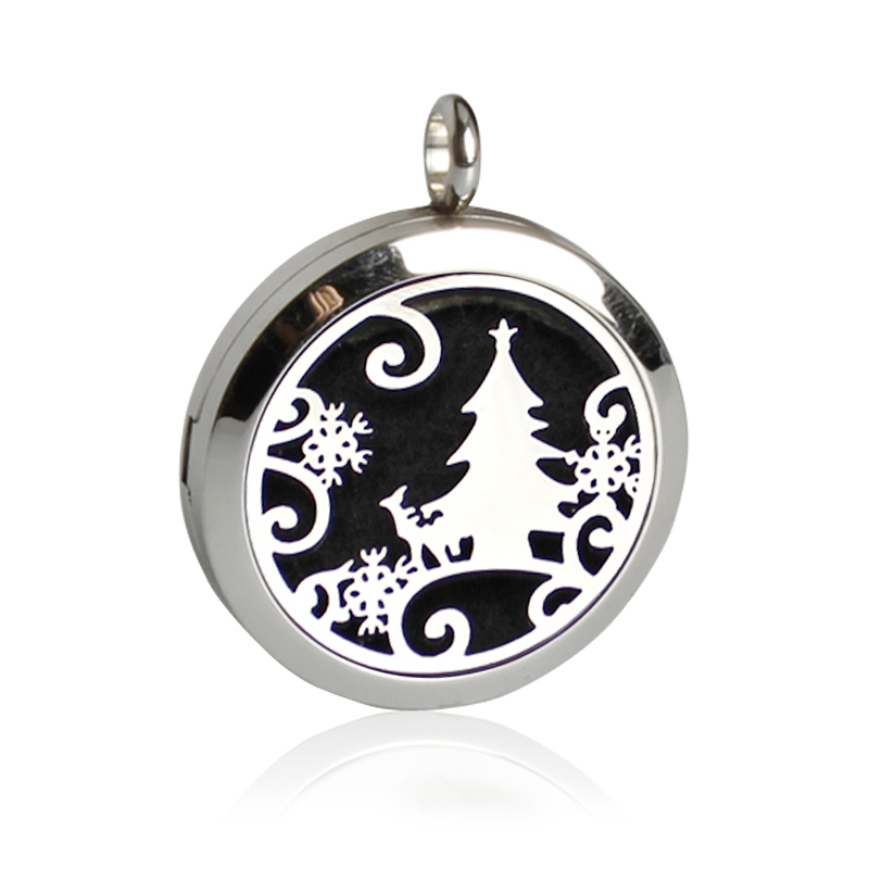 Christmas Gift !Aromatherapy Diffuser Locket Necklace With Felt Pads Stainless Steel Essential Oil Perfume Locket Pendant
