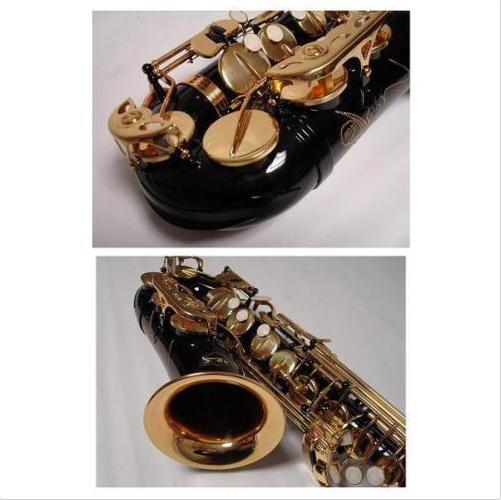 Профессиональный черного и золотого цвета альтсаксофон, саксофон Фирменная Новинка - 3