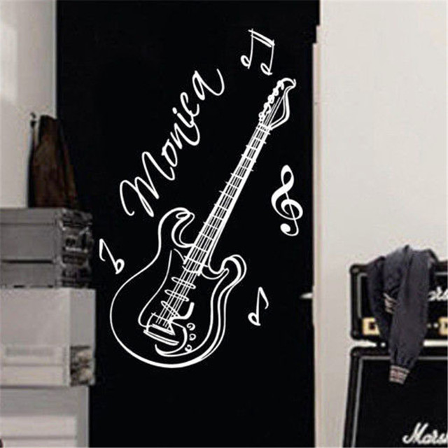 Aliexpresscom Buy A Creative Personality Guitar Custom Name - Guitar custom vinyl stickers