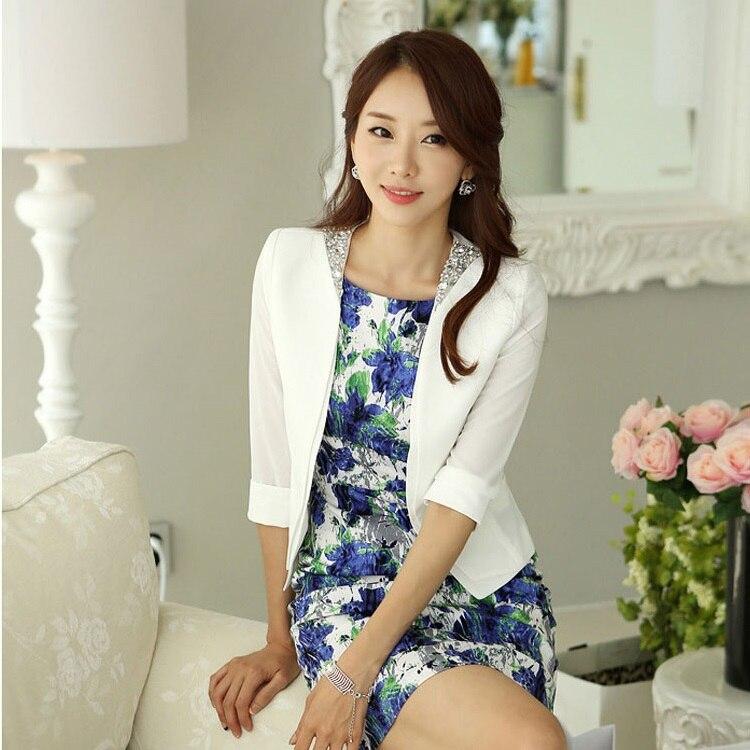 New 2018 Spring Summer White Blazers Women Jackets Short Ladies Office Uniform Style Wor ...