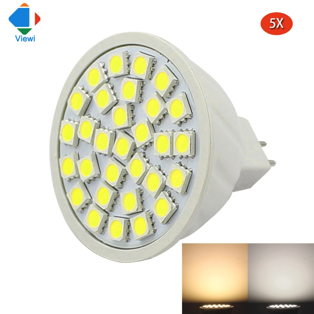 5pcs Spot Mr16 Led 12v Bulb Light 24v Spotlight 5050 30 Leds 3W Super Bright Energy Saving Lamp For Home Lighting 12 24 V Volt