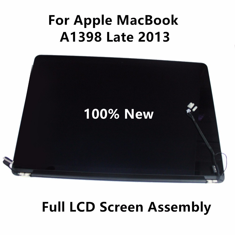 Genuine New Full LCD Display Retina Screen Assembly For Apple MacBook Pro A1398 Late 2013 EMC 2745 Mid 2014 EMC 2876 MGXA2LL/A original new a1706 a1708 full lcd assembly for apple macbook retina 13 a1706 a1708 2016 lcd screen display assembly grey silver