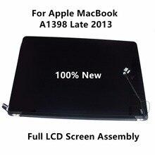 Подлинная Новый Полный ЖК-дисплей Дисплей Retina Экран в сборе для Apple MacBook Pro A1398 поздно 2013 emc 2745 MID 2014 emc 2876 mgxa2ll/A