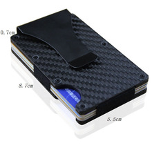 цена на 2019 New Metal Credit Card ID Holder With RFID Anti-chief Wallet men Fashion Brand Mini Money Clip Aluminum Safe Card Case