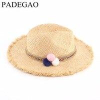 1ピースナチュラルラフィットヴィンテージ女性女の子わら帽子ファッション太陽の帽