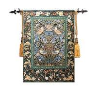 58*88cm William Morris Works Thrush Birds Wall Tapestry Wall Hanging Belgium Art Moroccan Decor Tapestry Fabric Tapestries tapiz