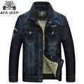 АФН JEEP 2016 джинсовая куртка мужчины высокого качества бренда джинсовой куртке зимняя куртка мужчины сгущает теплый джинсовые куртки с мехом мужская outewar