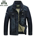 AFS JEEP 2016 denim jacket men high quality brand jean jacket Winter jacket men thicken warm denim jackets with fur  men outewar