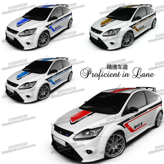 Universal customized 4 designs car whole body sticker styling decal decor vinyl covers stickers waterproof sports