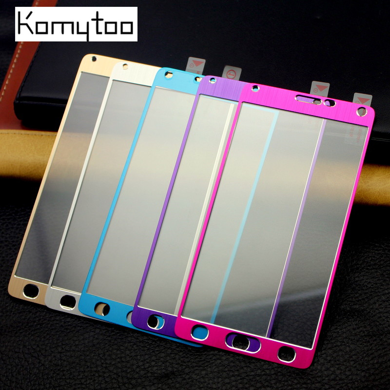 Metal <font><b>Titanium</b></font> <font><b>Alloy</b></font> Aluminum Explosion-Proof <font><b>Tempered</b></font> <font><b>Glass</b></font> <font><b>For</b></font> Samsung Galaxy Note 4 N9100 <font><b>Screen</b></font> Protector LCD <font><b>Film</b></font> Cover