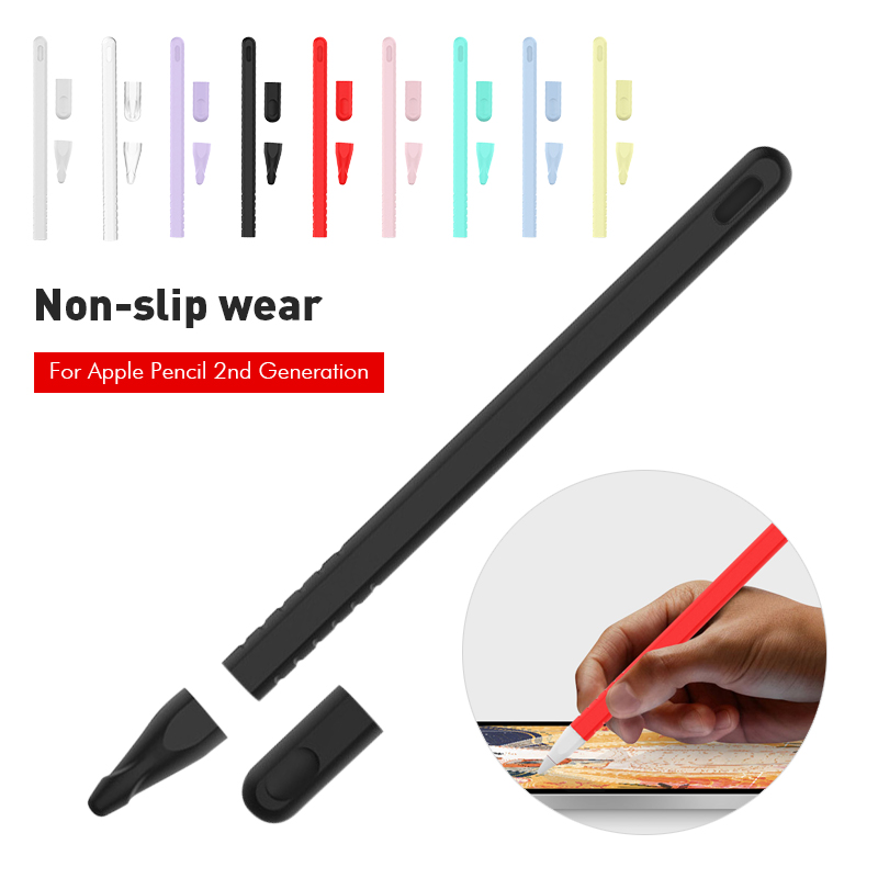For Ipad Pro 2018 Silicon Pen Case For Apple Pencil 2 Cases Cover Tip HolderTablet Touch Stylus Pen Protective Cover Pouch Capas