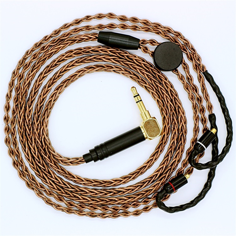 New DIY 1.2M 7N silver plated single crystal copper Earphone Cable HiFi MMCX Upgrade Cable for Shure pin series (535/215 etc.)