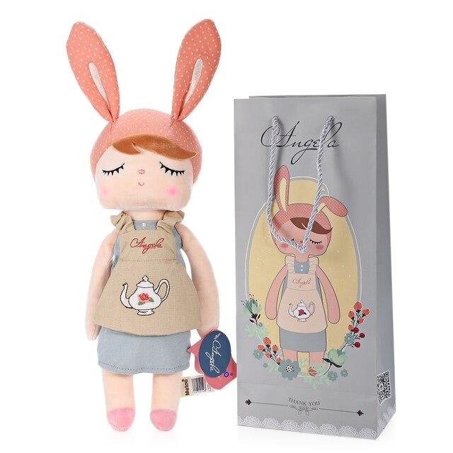New Arrival Genuine Metoo Angela Rabbit Dolls Bunny Baby Plush Toy Cute Lovely Stuffed Toys Kids Girls Birthday/Christmas Gift