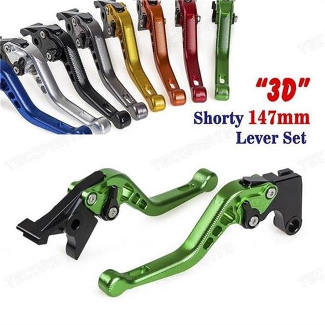 CNC 6 Position 3D Short Brake Clutch Lever for Kawasaki ZX6R 1995 1996 1997 1998 1999 8colors brake clutch levers for kawasaki ninja zx750 96 03 zx 750 zx750p zx7r zx 750 1996 1997 1998 1999 cnc clutch brake lever