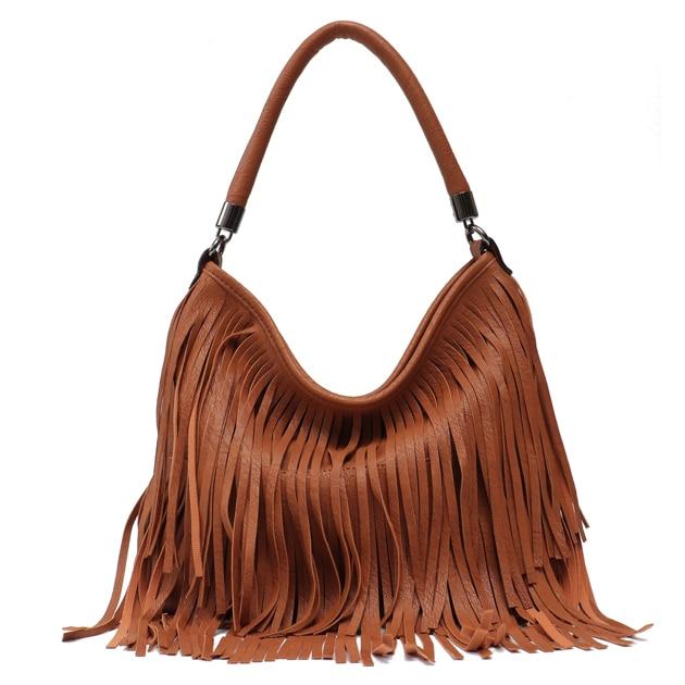 Boho Fringe PU Leather Bag